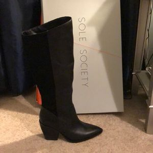 Sole Society Tall black boot